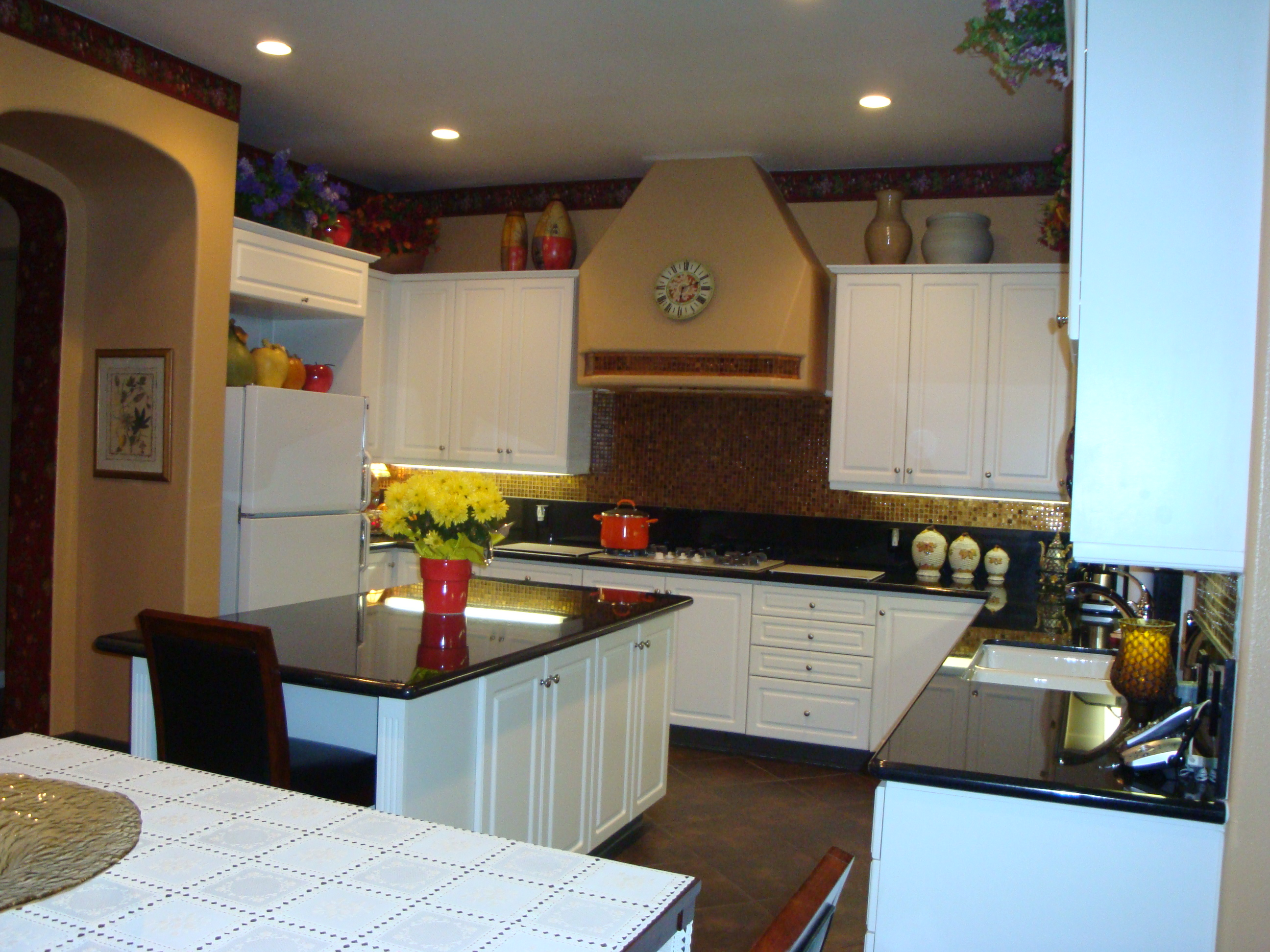 Kitchen Black Galaxy Granite Counter Tops | Santa Clarita