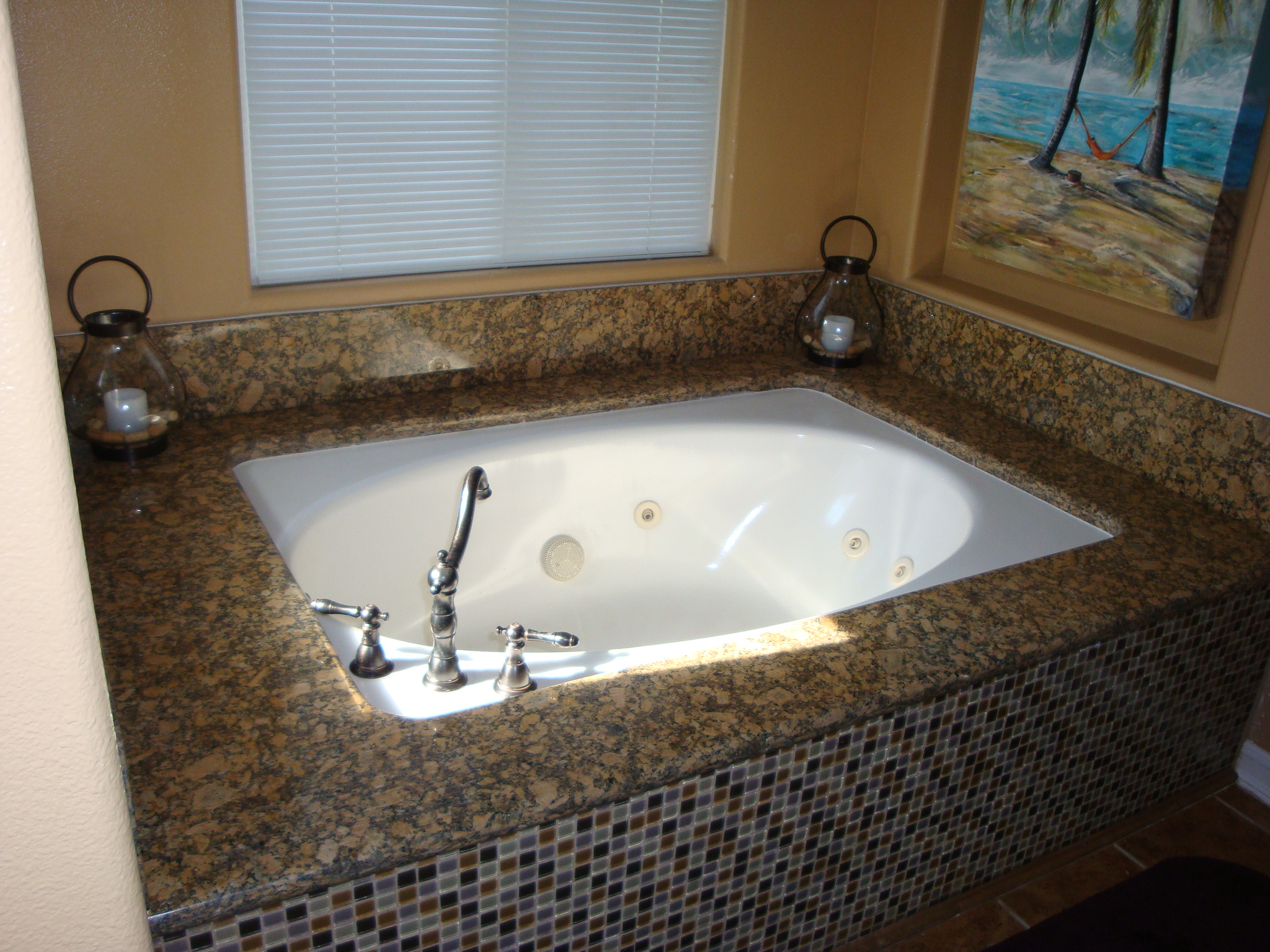 Bathroom Giallo Fiorrito Granite Counter Tops | Santa Clarita