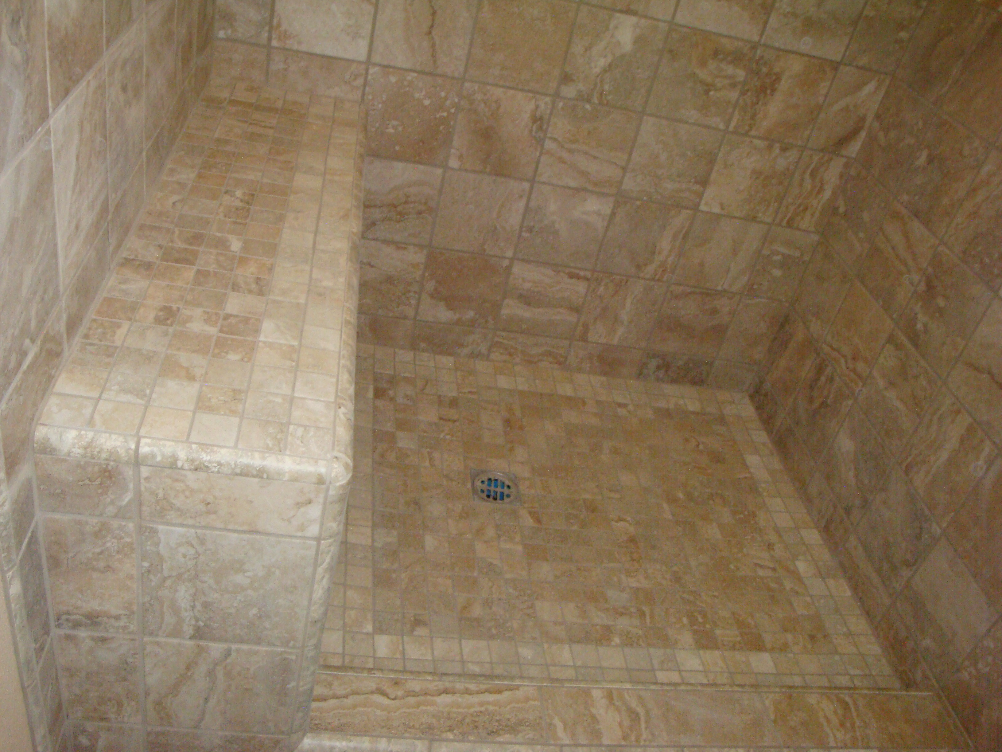Travertine Bathroom Shower | Santa Clarita