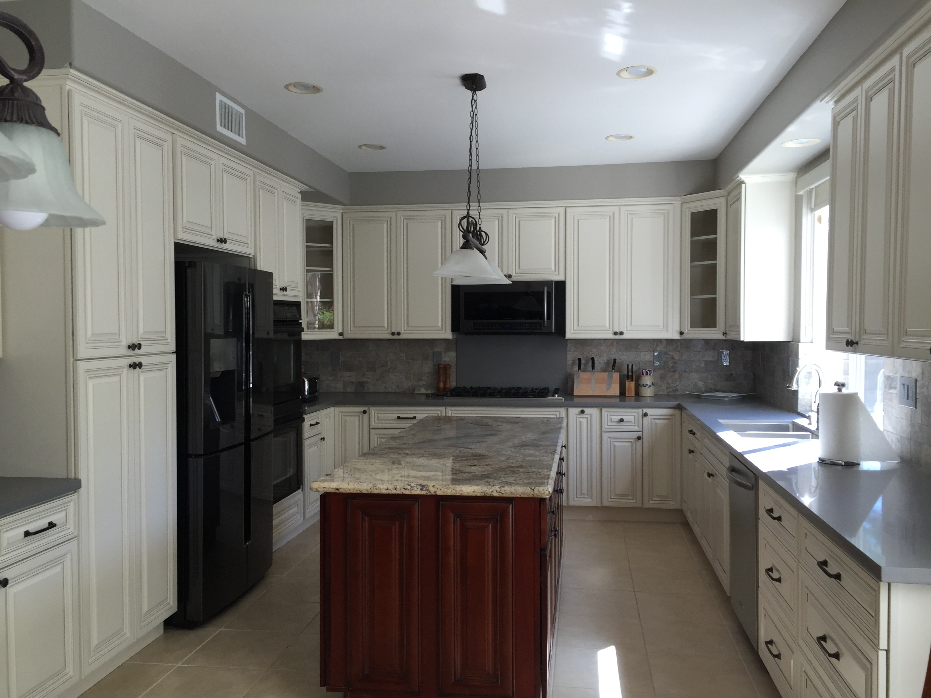kitchen the image countertops antique of sale granite cabinets white bisita cabinet guam design with